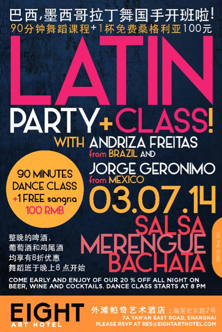 ¡Fiesta Latina y Clase de Baile!