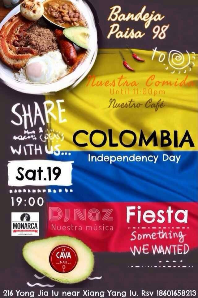 Fiesta Colombiana en La Cava