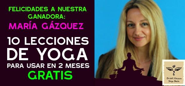 ¡María ha ganado 10 lecciones de yoga gratis con H.C.!